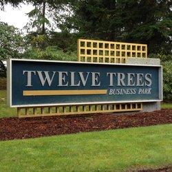 twelve trees sign